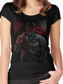 EVIL Ryu So badass Street Fighter Women's Fitted Scoop T-Shirt