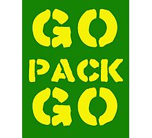 Go Pack Go - Green Bay's Finest! Photographic Print