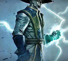 Raiden, Mortal Kombat by Scalpedmonkey