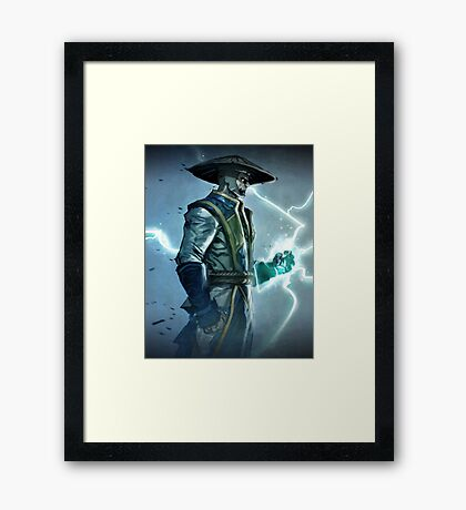Raiden, Mortal Kombat Framed Print