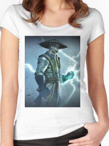 Raiden, Mortal Kombat Women's Fitted Scoop T-Shirt