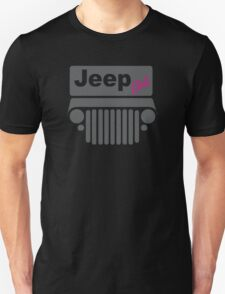 Jeep Girl Gray Unisex T-Shirt