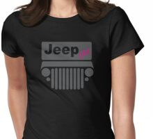 Jeep Girl Gray Womens Fitted T-Shirt