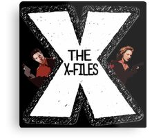 The X-Files Mulder and Scully Metal Print