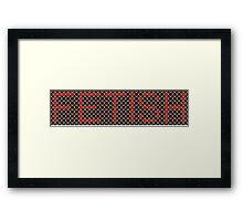 Fetish - Foot Rings Framed Print