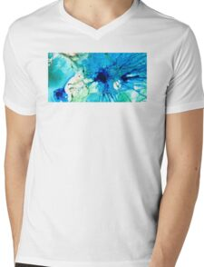 Blue Abstract Art - A Calm Energy - By Sharon Cummings Mens V-Neck T-Shirt
