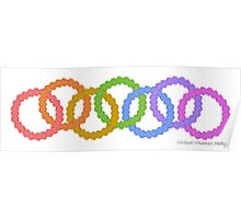 Rainbow Foot Rings Poster