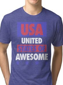 United States of Awesome - USA Tri-blend T-Shirt