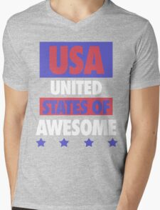 United States of Awesome - USA Mens V-Neck T-Shirt