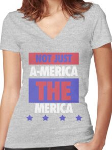Not Just America - THE Merica - USA! Women's Fitted V-Neck T-Shirt