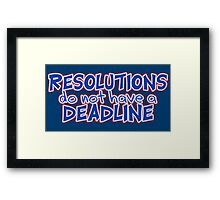 NYE Resolutions Framed Print