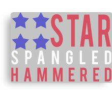 Star Spangled Hammered - USA! 'Merica! Canvas Print
