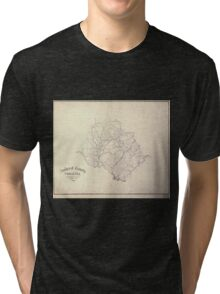 Civil War Maps 0031 Amherst County Virginia Tri-blend T-Shirt
