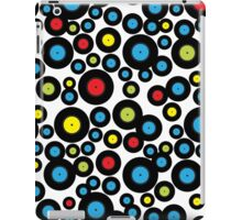 DJ Retro Vinyl Record Album Black Red Blue Pattern iPad Case/Skin