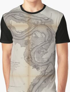 Civil War Maps 1168 Mississippi River Graphic T-Shirt