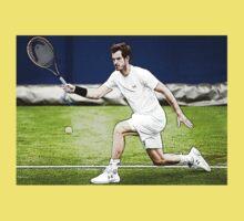 Andy Murray Wimbledon Tennis Kids Tee