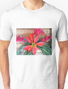 Poinsettia,Berries and Foliage Unisex T-Shirt