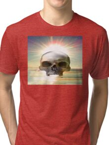 Skull Sunset Tri-blend T-Shirt