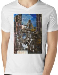 Roman Impression Mens V-Neck T-Shirt