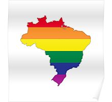 brazil gay map Poster