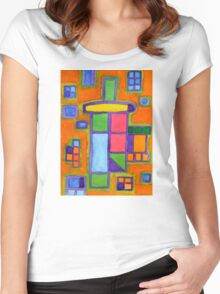 Colourful Windows Women's Fitted Scoop T-Shirt