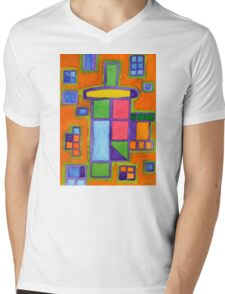 Colourful Windows Mens V-Neck T-Shirt