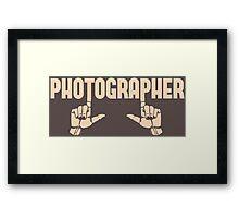 Photographer Fingers Framed Print