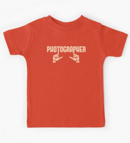 Photographer Fingers Kids Tee