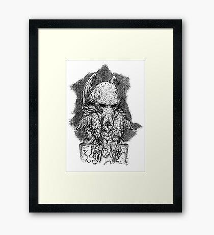 CTHULHU´S SCULPTURE Framed Print