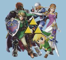 Legend Of Zelda Characters Baby Tee