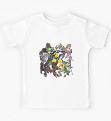 Legend Of Zelda Characters Kids Tee