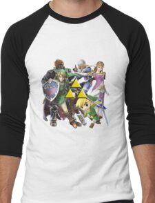 Legend Of Zelda Characters Men's Baseball ¾ T-Shirt