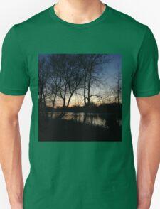 dusk by lake Unisex T-Shirt