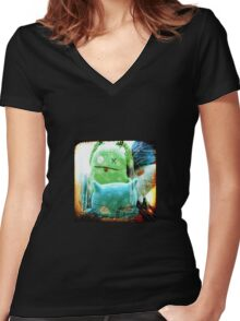 plushes and monsters #3 Women's Fitted V-Neck T-Shirt