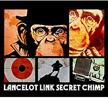 Lancelot Link: Secret Chimp Photographic Print