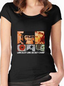 Lancelot Link: Secret Chimp Women's Fitted Scoop T-Shirt