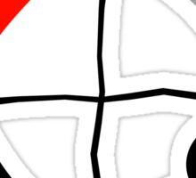 Homestuck Relationship Quadrants Graphic  Sticker