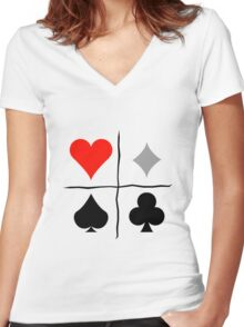 Homestuck Relationship Quadrants Graphic  Women's Fitted V-Neck T-Shirt
