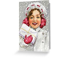 """X-Mas little girl Classic"" T-shirt Greeting Card"