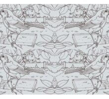 Robin Toile de Jouy Inspired Pale Grey Sticker