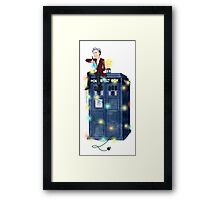 Doctor Who: It's Christmas! (Just the Doctor) Framed Print