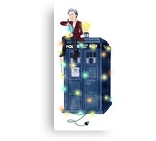 Doctor Who: It's Christmas! (Just the Doctor) Canvas Print