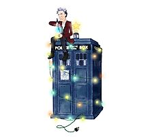 Doctor Who: It's Christmas! (Just the Doctor) Photographic Print