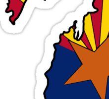 Arizona flag Michigan outline Sticker
