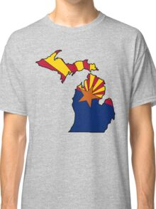Arizona flag Michigan outline Classic T-Shirt