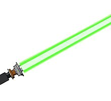 Skywalker Lightsaber - Green by KraZerrr1