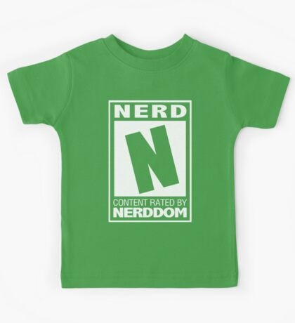 Rated N for Nerd (White) Kids Tee