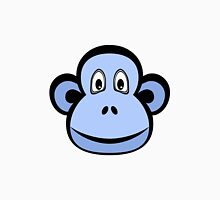 Blue Monkey on White Unisex T-Shirt