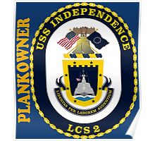 LCS-2 USS Indepenence Plankowner for Dark Poster