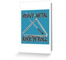 Heavy Metal Rock & Roll Greeting Card